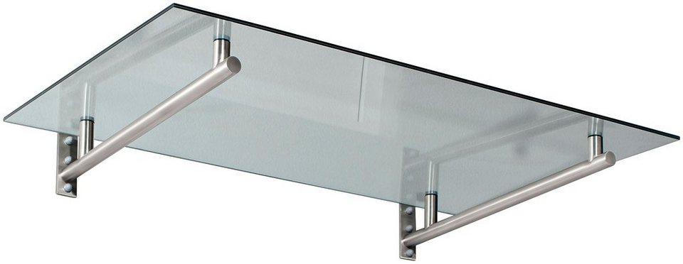 Vordach »HD 160«, 160x100x19,5 cm, silberfarben-transparent in silberfarben