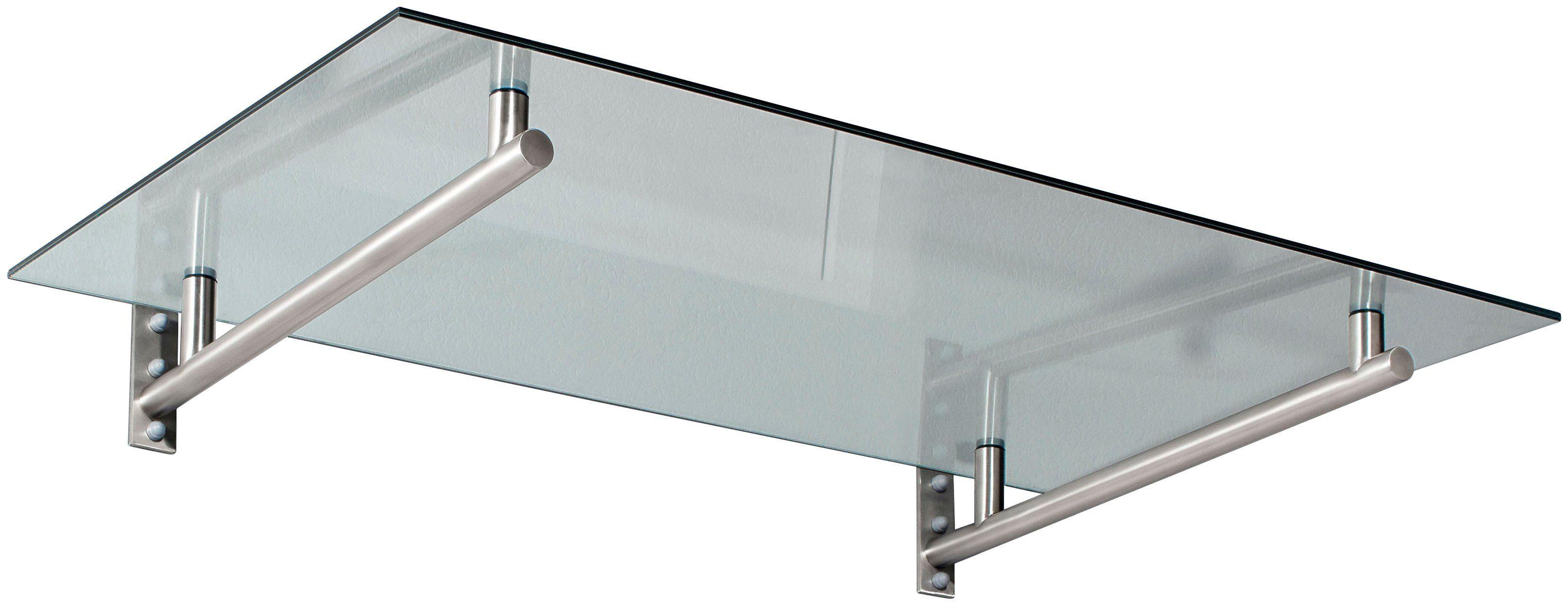 Gutta Vordach »HD 160«, 160x100x19,5 cm, silberfarben-transparent