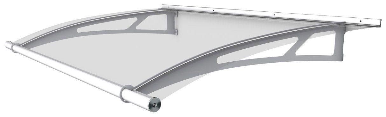 Pultvordach »LW«, 150x95x17 cm, weiß-transparent