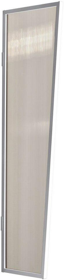 Seitenblende »B1 PC bronce«, BxH: 60x200 cm, weiß/braun in weiß