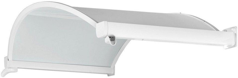 Vordach »TYP OV/B«, 160x90x30 cm, opak in weiß