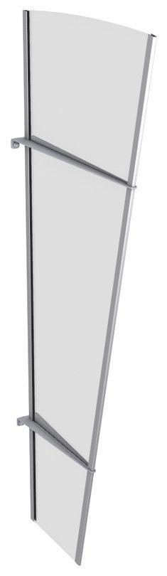 Seitenteile für Vordächer »L Edelstahl«, BxH: 62x167 cm, silberfarben/transparent in silberfarben