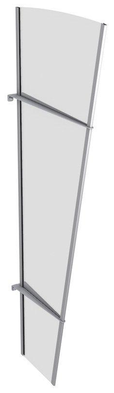 Seitenteile für Vordächer »L Edelstahl«, BxH: 62x167 cm, silberfarben/transparent