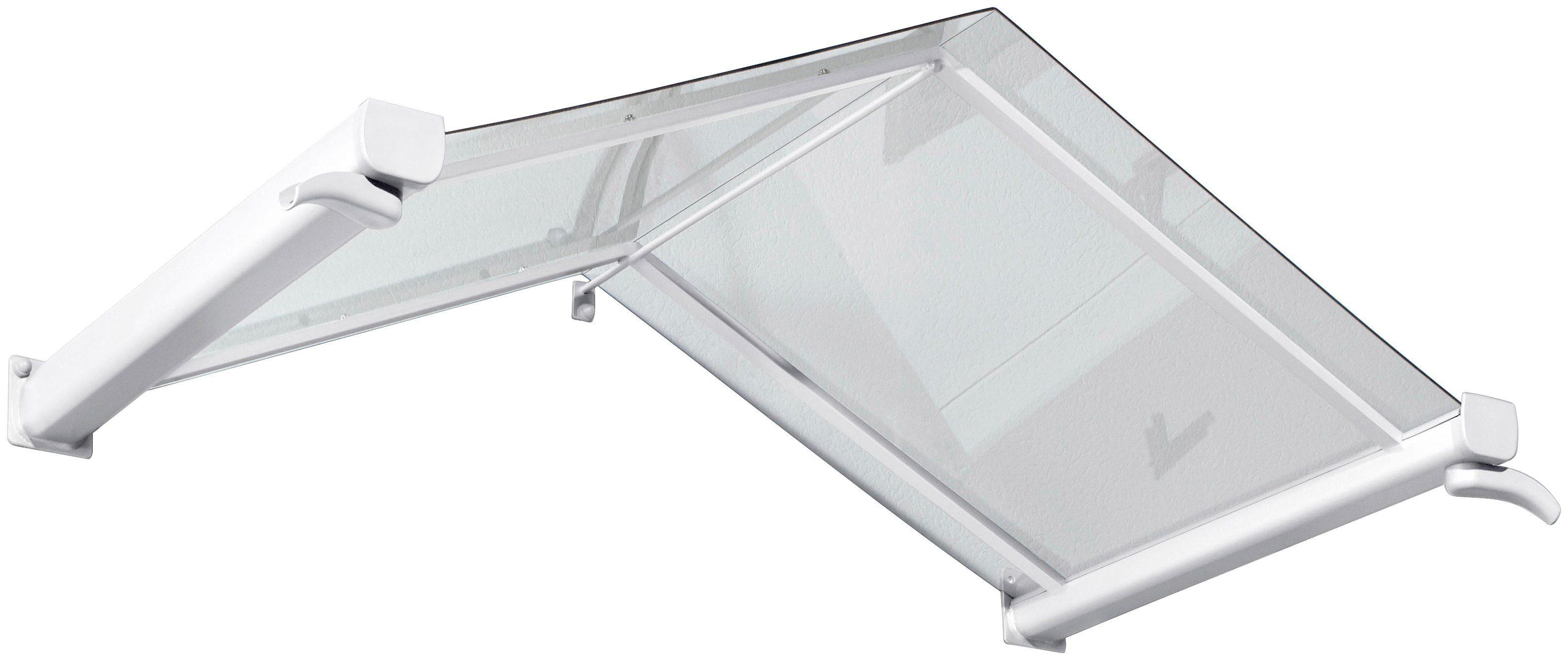 Gutta Vordach »TYP GV/T«, 160x90x40 cm, weiß-transparent