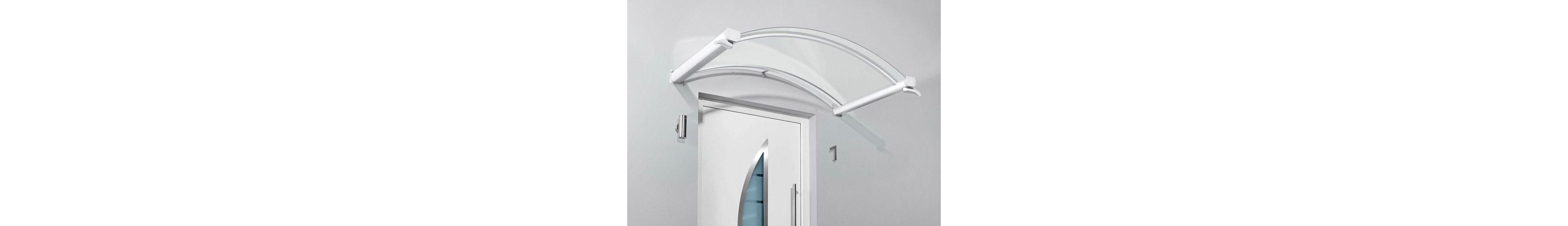 Bogenvordach »TYP BV/B«, 200x90x25 cm, weiß-transparent