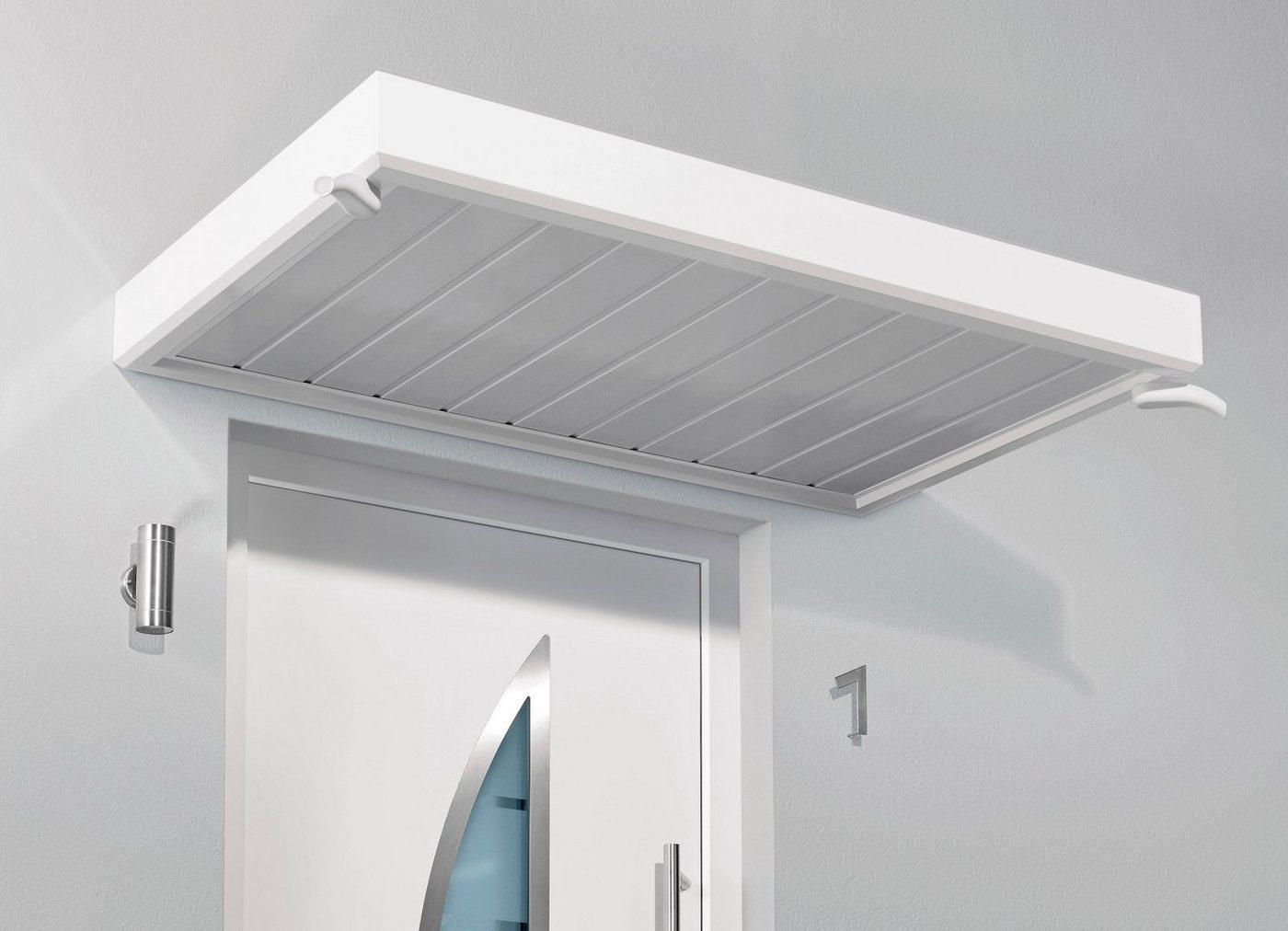 Gutta Vordach »TYP NM«, 200x90x14 cm, weiß | Baumarkt > Modernisieren und Baün > Vordächer | Weiß | GUTTA