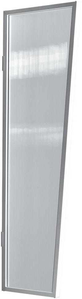 Seitenblende »B2 PC klar«, BxH: 60x175 cm, weiß/transparent in weiß