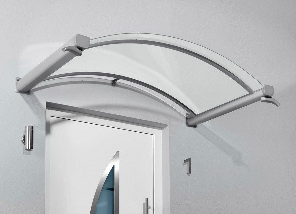 Bogenvordach »TYP BV/B«, 200x90x25 cm, silberfarben-transparent in silberfarben