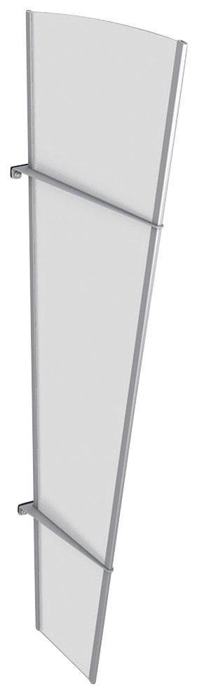Gutta Seitenteile für Vordächer »L Edelstahl«, BxH: 62x167 cm, silberfarben/weiß satiniert