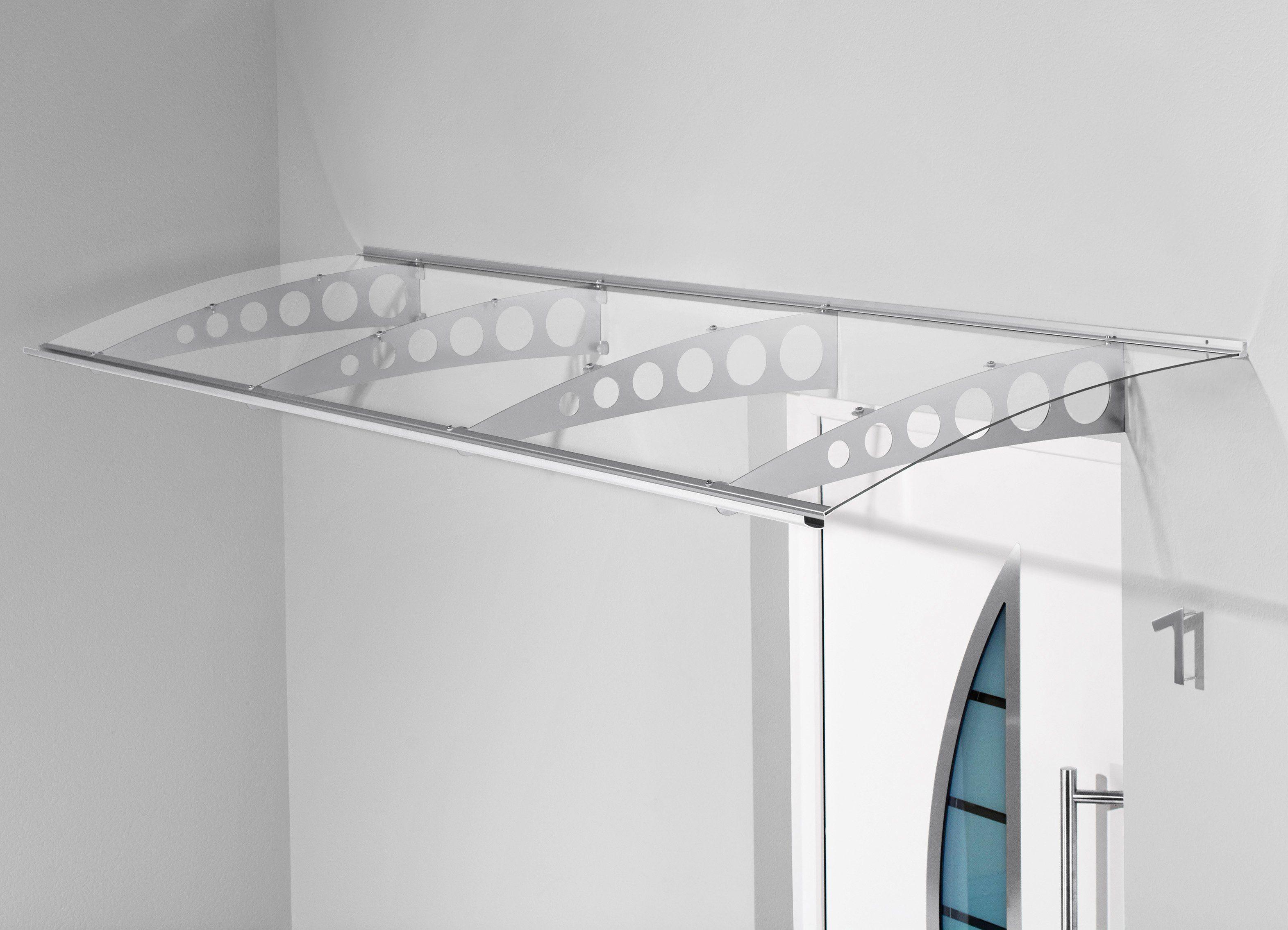 Pultvordach »PT/ET«, 300x90x22,5 cm, silberfarben-transparent