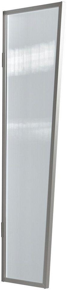 Seitenblende »B1 PC klar«, BxH: 60x200 cm, silberfarben/transparent in silberfarben