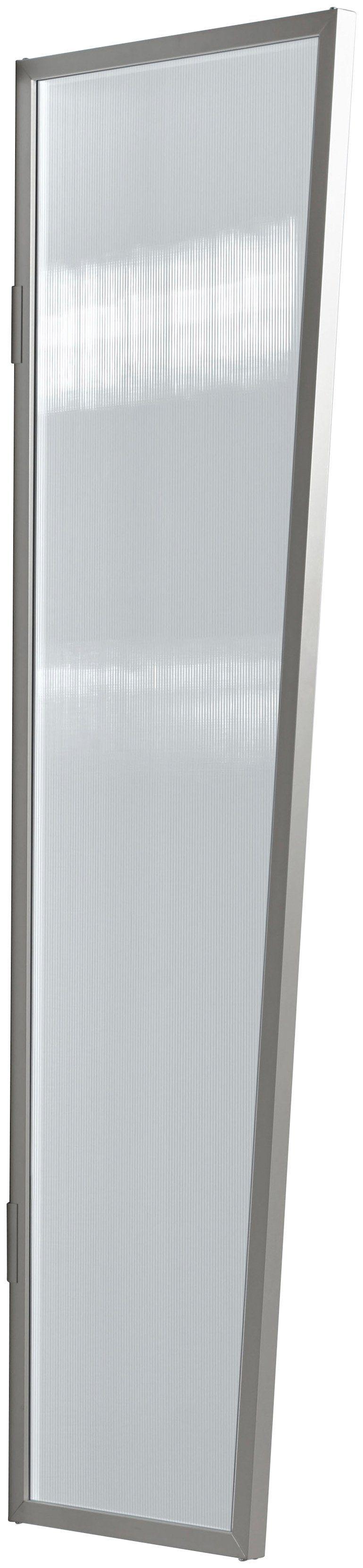 Seitenblende »B1 PC klar«, BxH: 60x200 cm, silberfarben/transparent