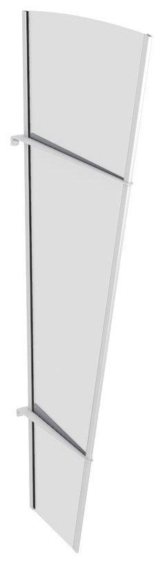 Seitenteile für Vordächer »LW Edelstahl«, BxH: 62x167 cm, weiß/transparent