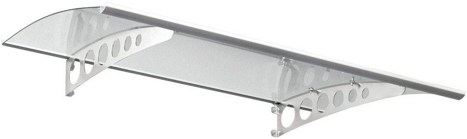 Pultvordach »PT/ET«, 160x90x22,5 cm, silberfarben-transparent in silberfarben
