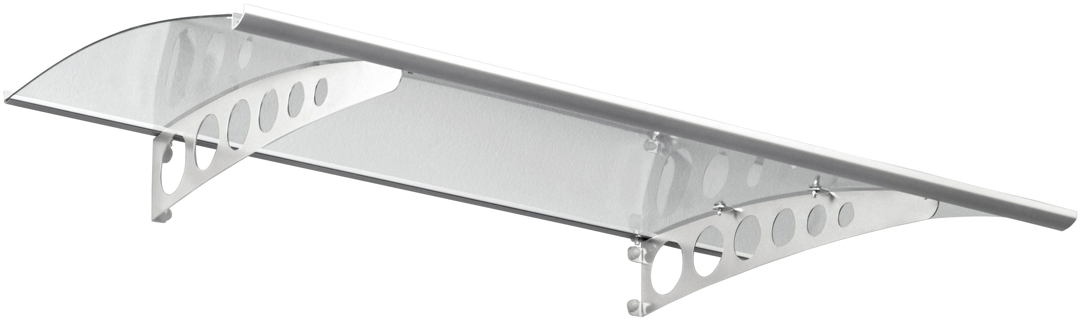 Pultvordach »PT/ET«, 160x90x22,5 cm, silberfarben-transparent