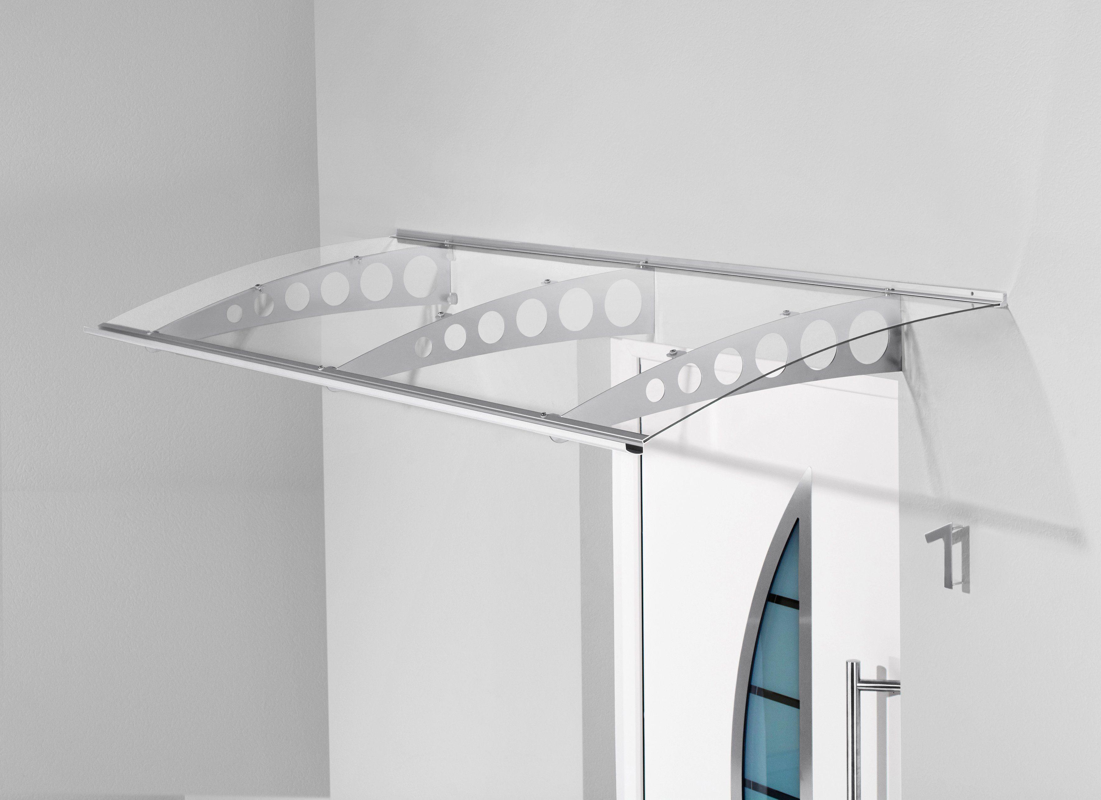Pultvordach »PT/ET«, 240x90x22,5 cm, silberfarben-transparent