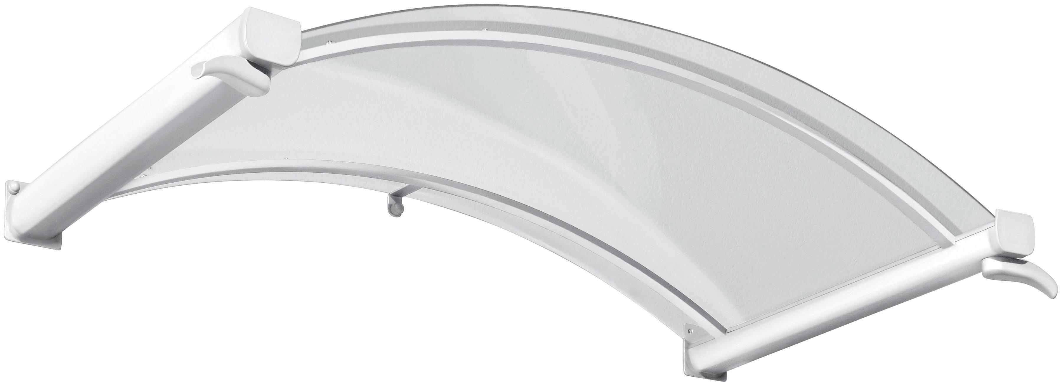Gutta Bogenvordach »TYP BV/B«, 160x90x30 cm, weiß-transparent   Baumarkt > Modernisieren und Baün > Vordächer   GUTTA