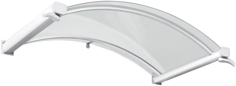 Bogenvordach »TYP BV/B«, 160x90x30 cm, weiß-transparent in weiß