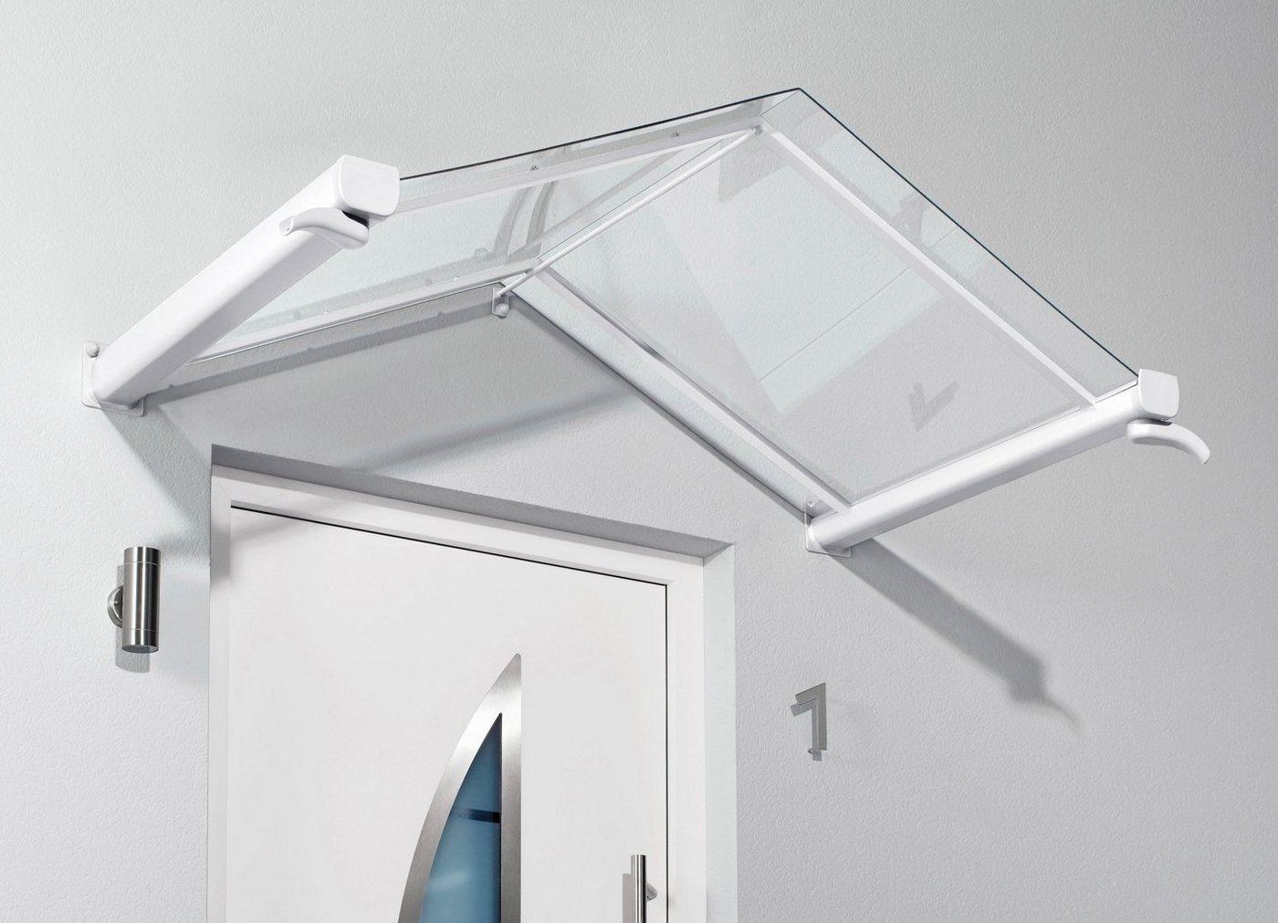 Gutta Vordach »TYP GV/T«, 200x90x40 cm, weiß-transparent | Baumarkt > Modernisieren und Baün > Vordächer | Weiß | GUTTA