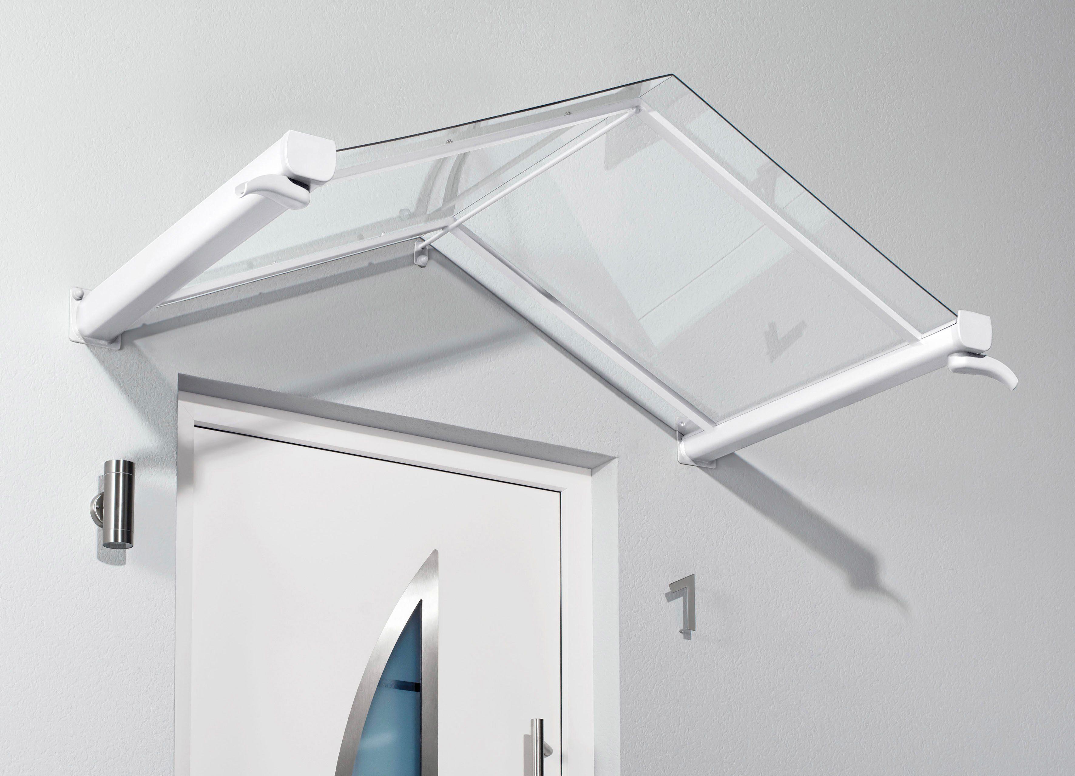 Vordach »TYP GV/T«, 200x90x40 cm, weiß-transparent