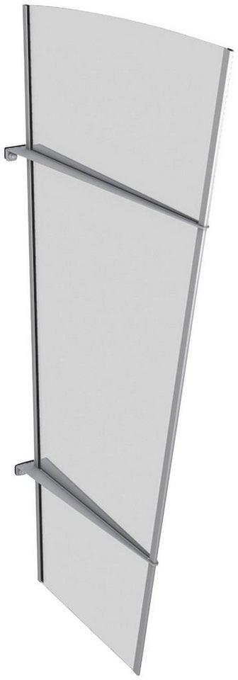 Seitenteile für Vordächer »XL Edelstahl«, BxH: 85x167 cm, silberfarben/weiß satiniert in silberfarben