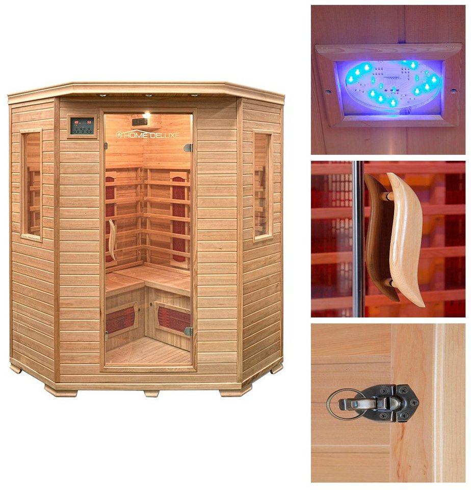 home deluxe infrarotkabine redsun xxl 150 150 190 cm. Black Bedroom Furniture Sets. Home Design Ideas