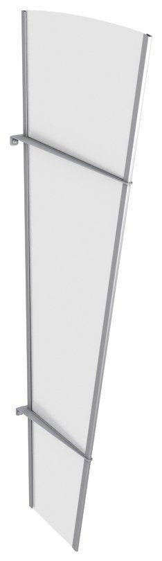 Gutta Seitenteile für Vordächer »LW Edelstahl«, BxH: 62x167 cm, weiß satiniert