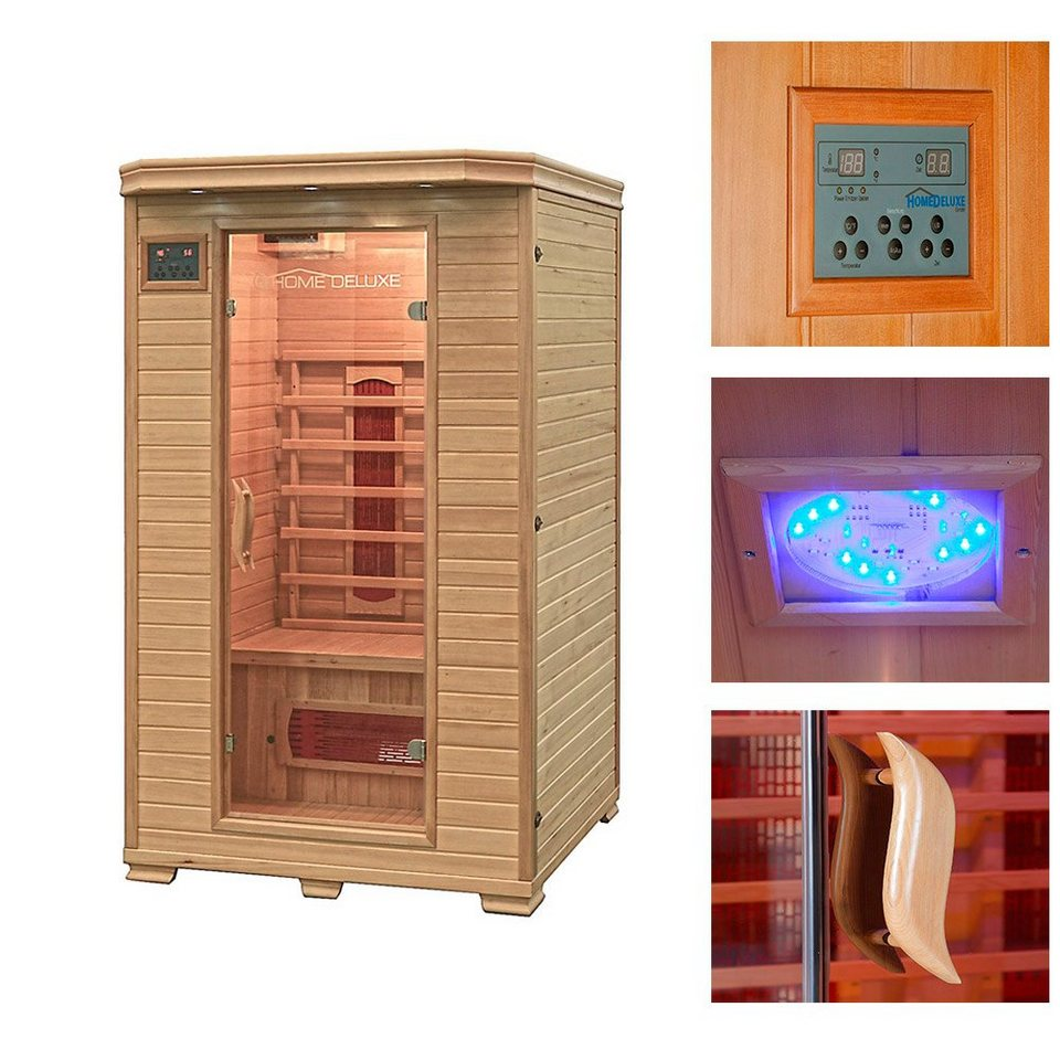 home deluxe infrarotkabine redsun m 120 105 190 cm 40. Black Bedroom Furniture Sets. Home Design Ideas