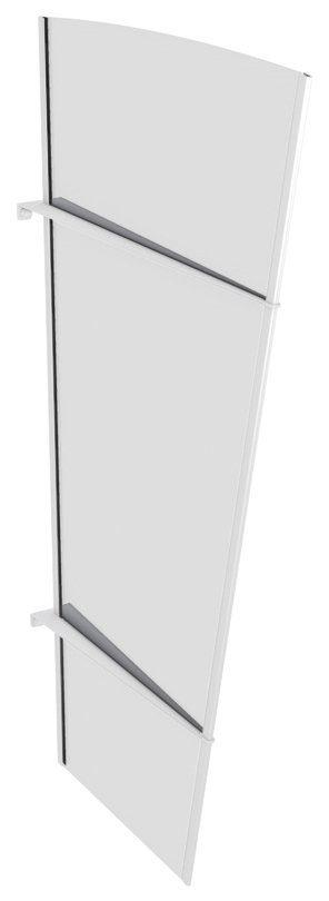 Seitenteile für Vordächer »XLW Edelstahl«, BxH: 85x167 cm, weiß/transparent