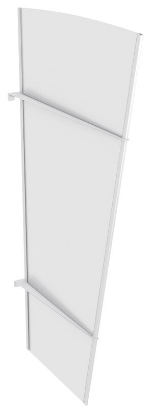 Seitenteile für Vordächer »XLW Edelstahl«, BxH: 85x167 cm, weiß satiniert in weiß