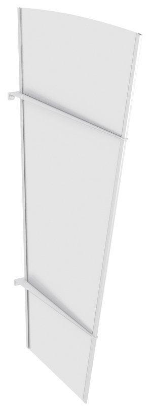 Gutta Seitenteile für Vordächer »XLW Edelstahl«, BxH: 85x167 cm, weiß satiniert
