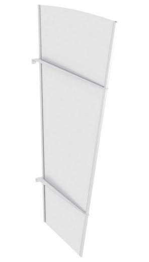 Seitenteile für Vordächer »XLW Edelstahl«, BxH: 85x167 cm, weiß satiniert