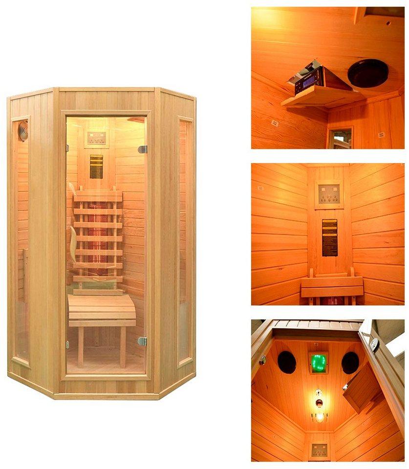 Home Deluxe Infrarotkabine »Nova«, 100/100/200 cm, 40 mm, für bis zu 2 Personen in natur