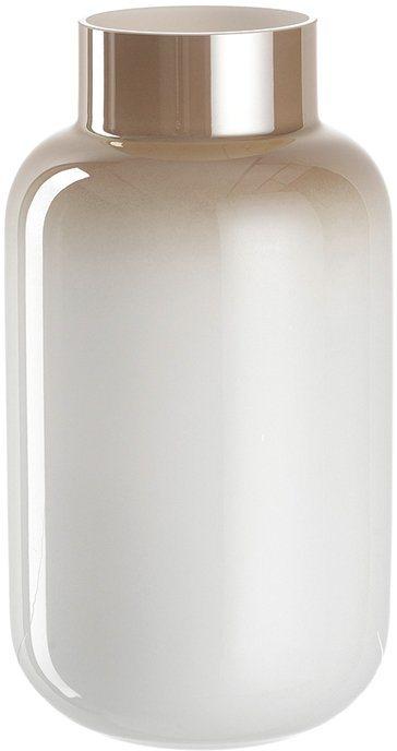 LEONARDO Vase, Glas in weiß/beige