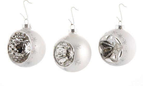 INGE-GLAS® Weihnachtsbaumkugel (3 Stück)