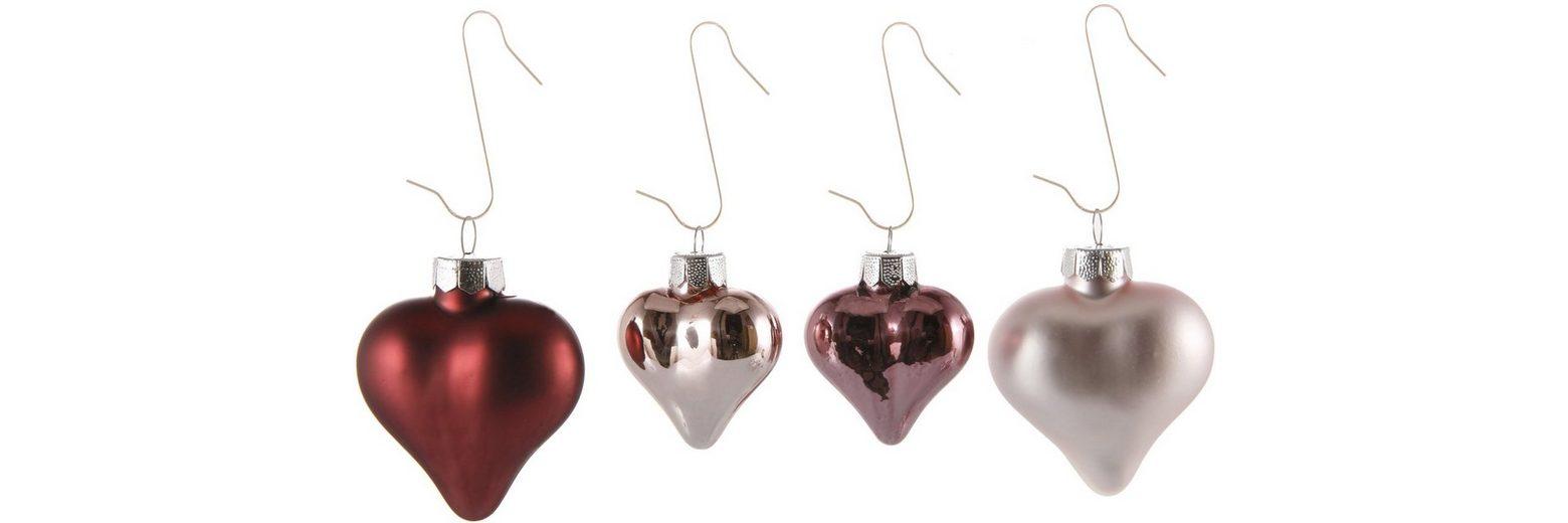 Inge´s Christmas Decor Herzsortiment 16-teilig, »Magic - Avenue of Romance«