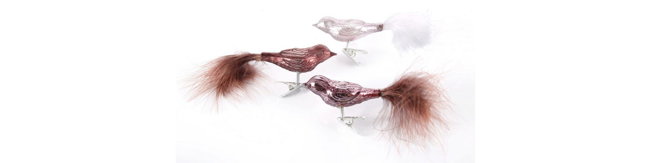 Inge´s Christmas Decor Vogelsortiment 6-teilig , »Magic - Avenue of Romance«
