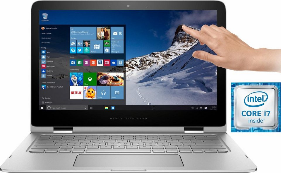 HP Spectre x360 13-4155ng Notebook, Intel® Core™ i7, 33,8 cm (13,3 Zoll), 512 GB Speicher in silberfarben