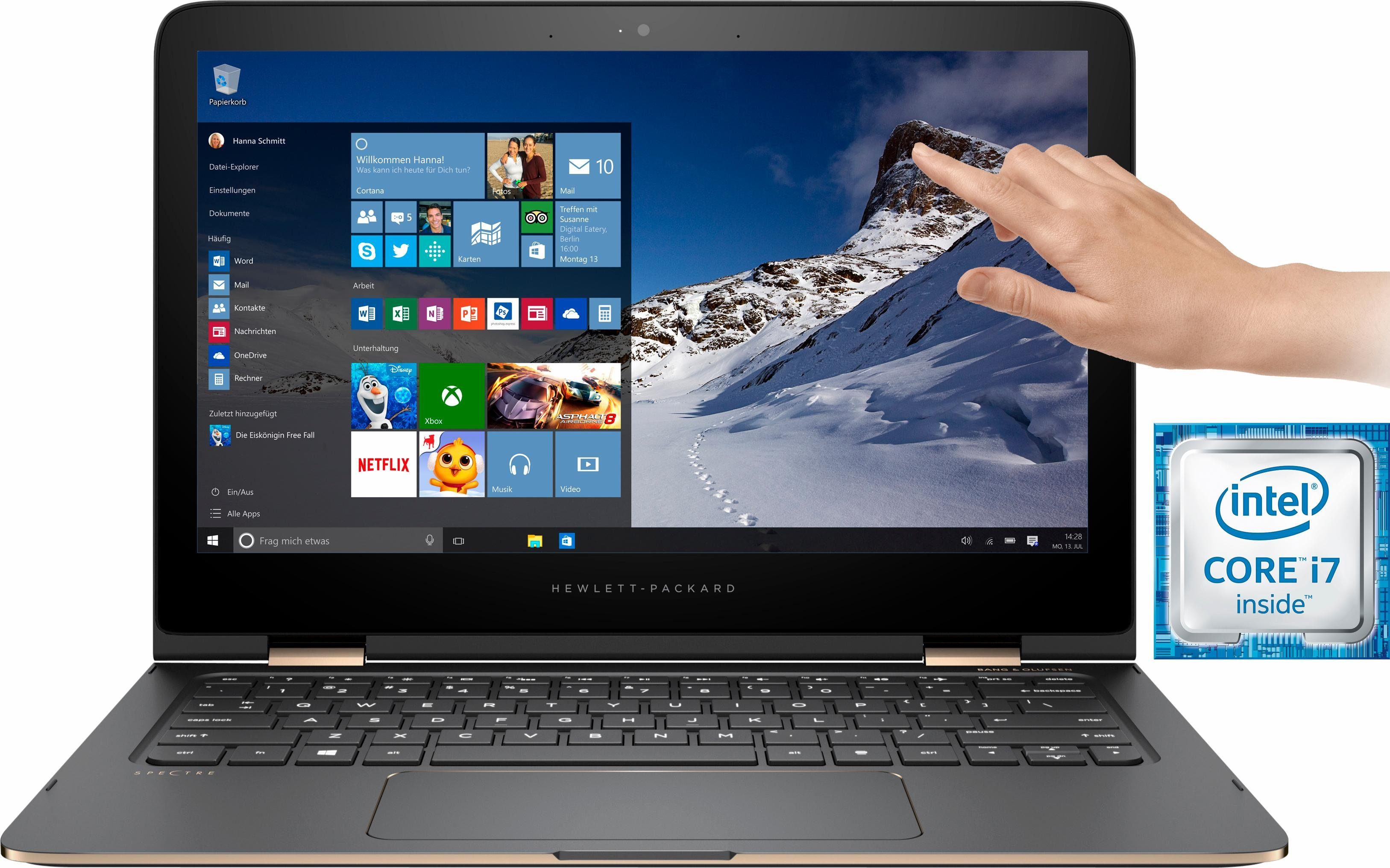 HP Spectre 13-4159ng Notebook, Intel® Core™ i7, 33,8 cm (13,3 Zoll), 512 GB Speicher