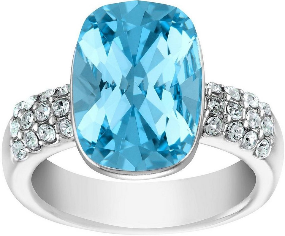 Lolaandgrace Fingerring »CHATEAU SQUARE RING, 5140868, 5140869, 5140870« verziert mit Swarovski® Kristall in silberfarben