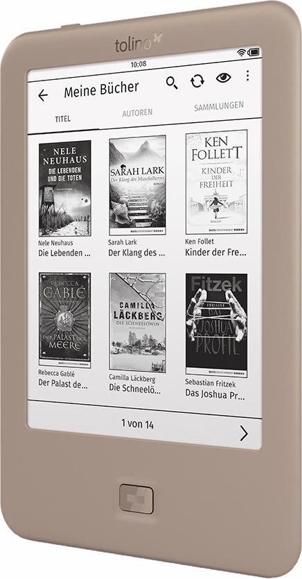 Tolino Page E-Book-Reader, Freescale i.MX6, 15,2 cm (6 Zoll) in goldfarben