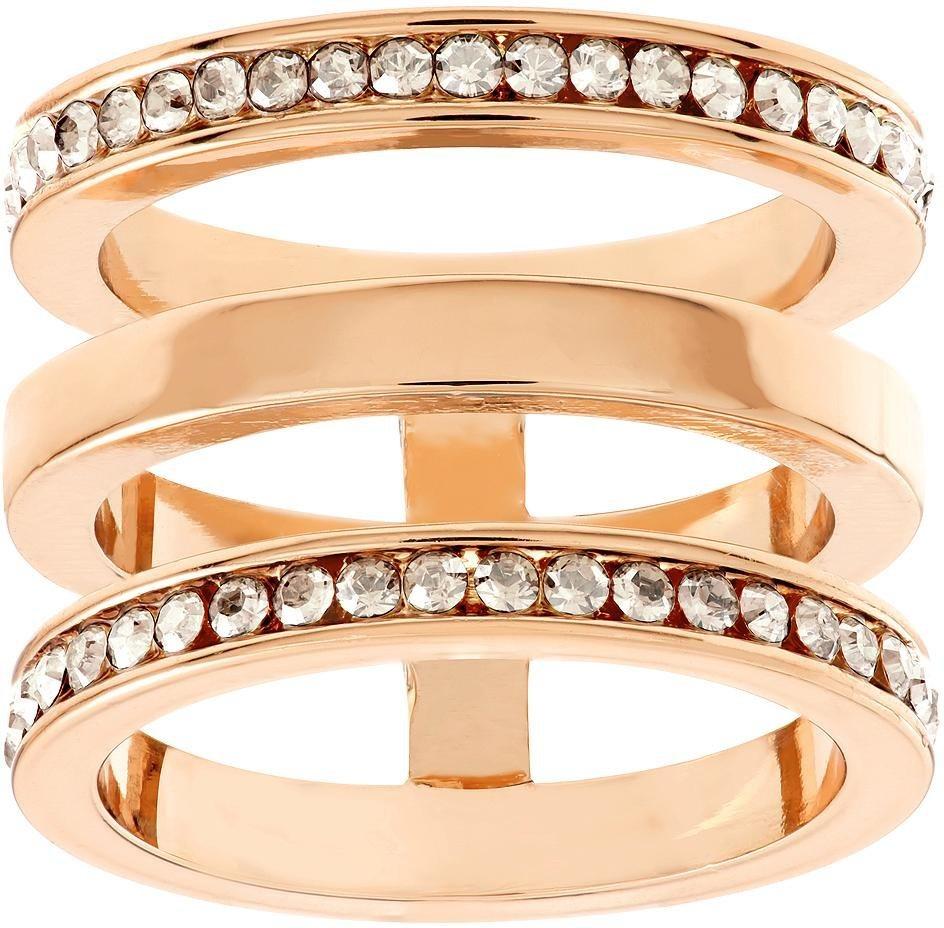 Lolaandgrace Fingerring »MILAN RING, 5182873, 5182874, 5182875« verziert mit Swarovski® Kristallen in roségoldfarben
