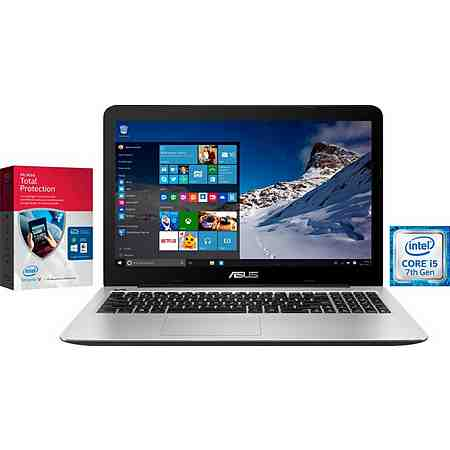 Asus F556UQ Notebook, Intel® Core™ i5, 39,6 cm (15,6 Zoll), 1000 GB Speicher, 4096 MB DDR4-RAM