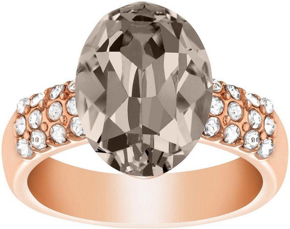 Lolaandgrace Fingerring »CHATEAU OVAL RING, 5140889, 5140890, 5140891« verziert mit Swarovski® Kristall in roségoldfarben-grau