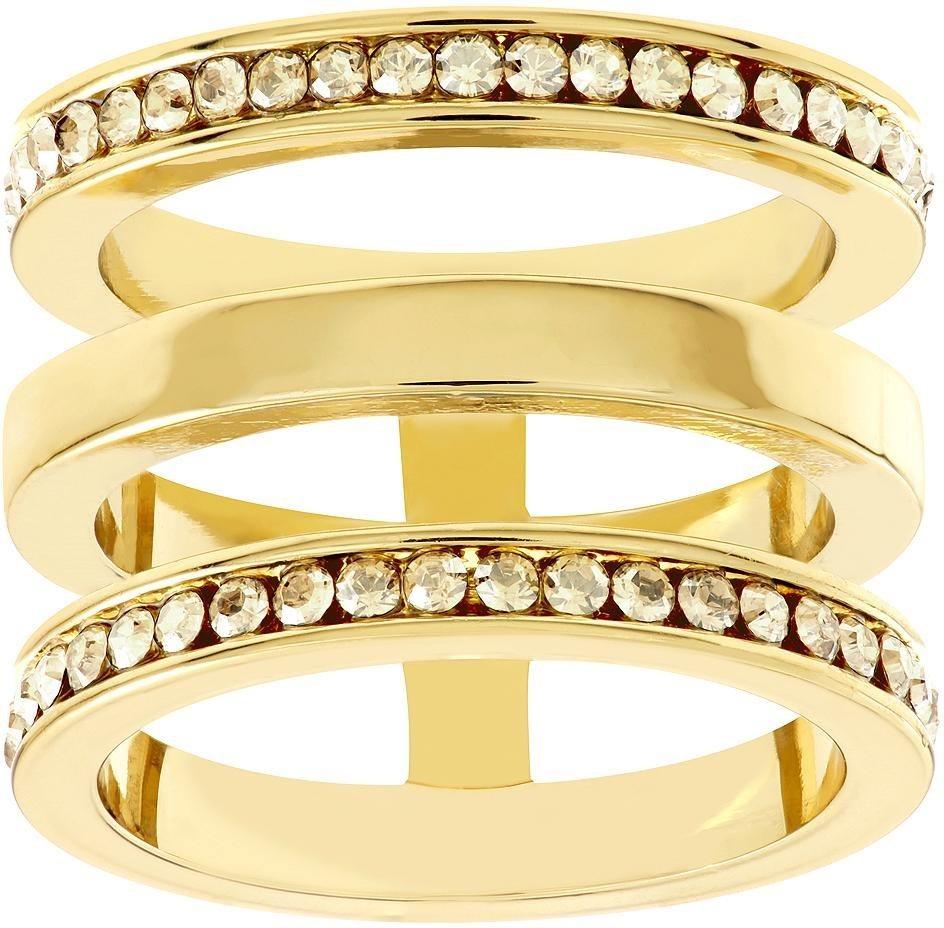 Lolaandgrace Fingerring »MILAN RING, 5182877, 5182878, 5182879« verziert mit Swarovski® Kristallen in goldfarben