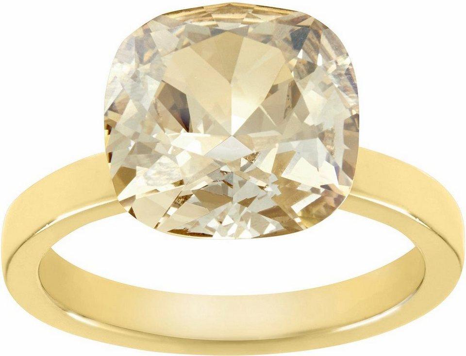 Lolaandgrace Fingerring »GEM RING, 5028130, 5028131, 5028132« verziert mit Swarovski® Kristall in goldfarben