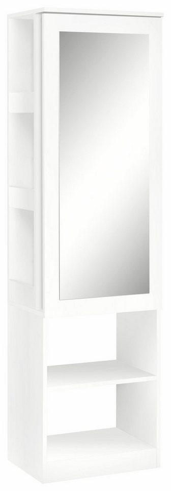Garderobenschrank »Nicolas« mit Spiegel in weiß