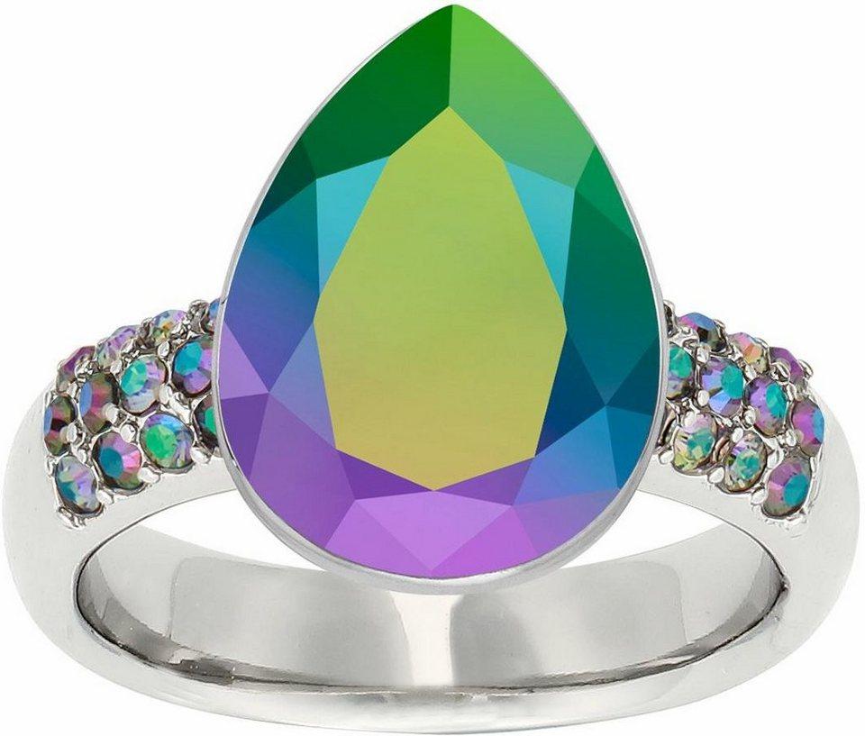 Lolaandgrace Fingerring »CHATEAU DROP RING, 5251981, 5251982, 5251983« verziert mit Swarovski® Kristall in silberfarben