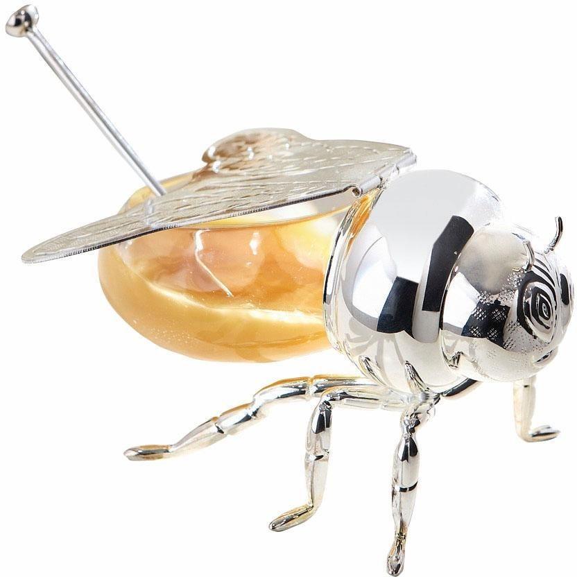 Fink Honigglas »MAYA« in silberfarben