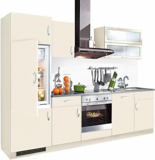 wiho Küchen Küchenzeile »Amrum«, mit E-Geräten, Breite 280 cm